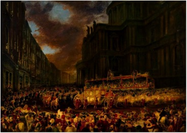 """First State Visit of Queen Victoria to the City of London, Nov. 1837, Passing St. Pauls"" by Sir George Hayter"""