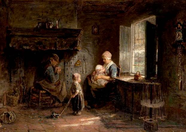The Happy Family by Josef Israels