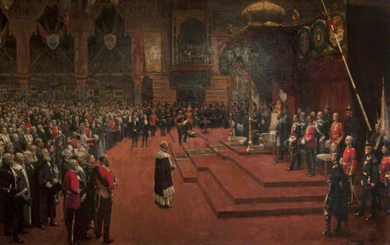 Lavery, John, 1856-1941; State Visit of Her Majesty, Queen Victoria to the Glasgow International Exhibition, 1888
