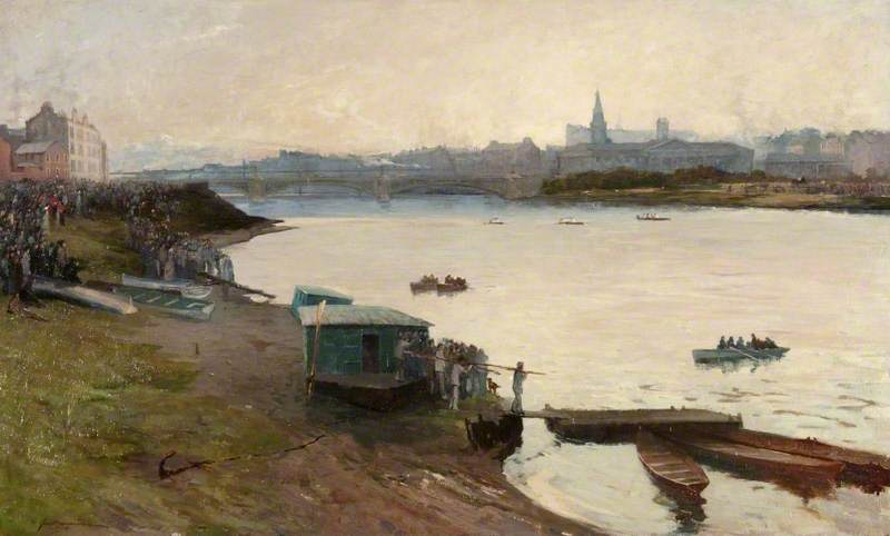 MacNiven, John, 1819-1895; Glasgow Regatta, the Closing Stages