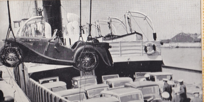 Car ferry in 1937