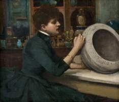 Lavery, John, 1856-1941; Woman Painting a Pot