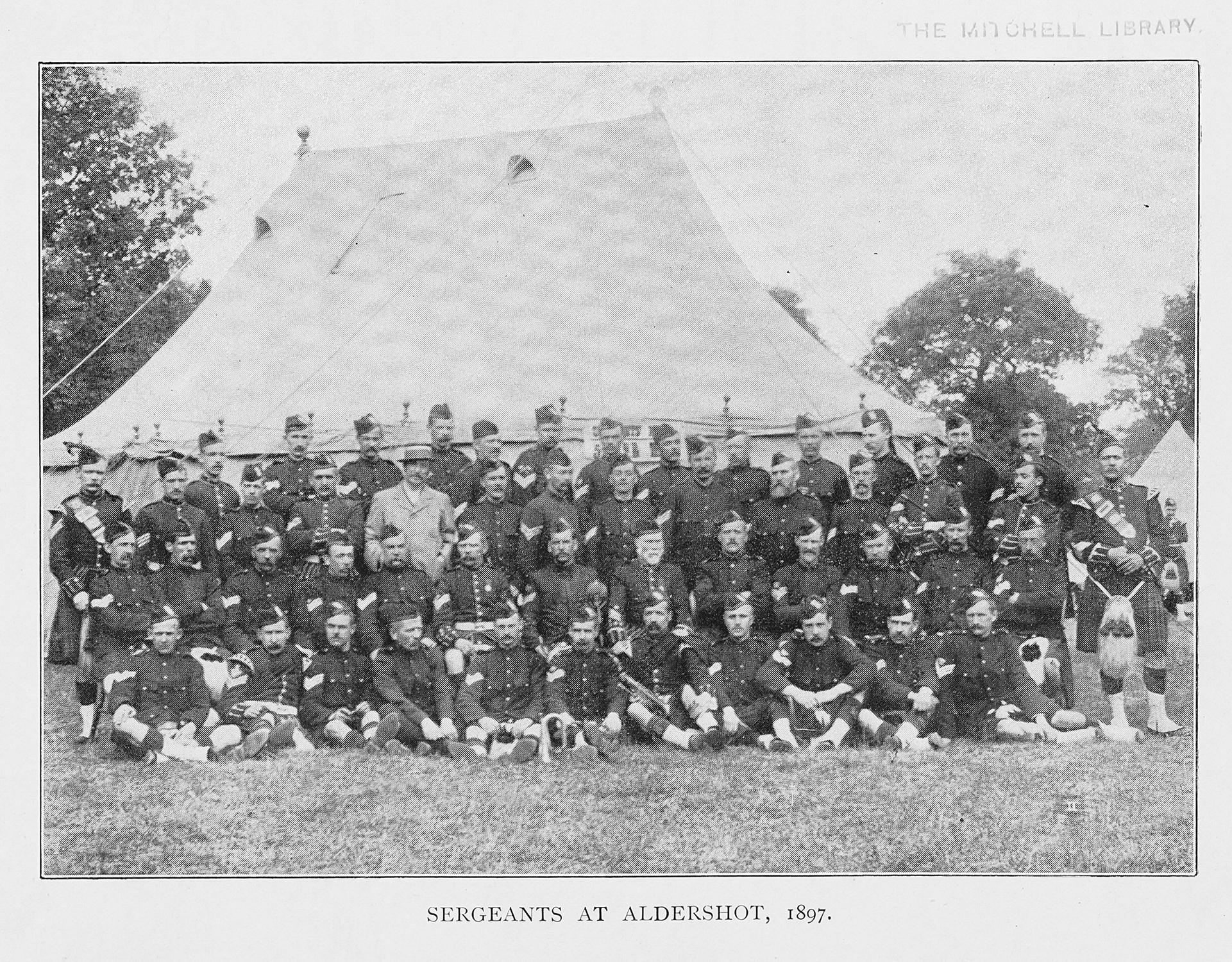 8. THE PIBROCH VOL1 NO3 DEC 1897 P31 THE REGIMENT AT ALDERSHOT (002)