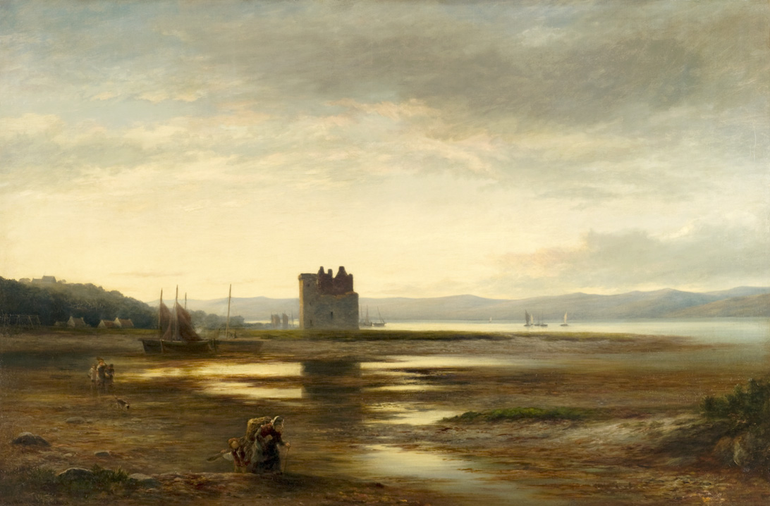 Lochranza Castle by William Beattie Brown © CSG CIC Glasgow Museums Collection