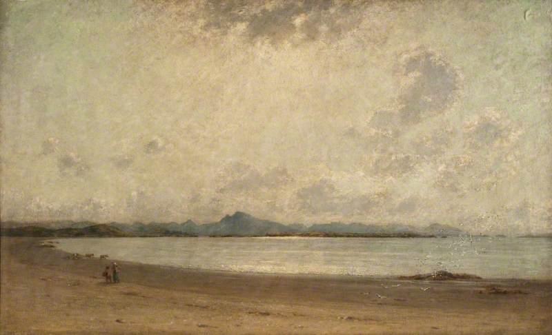 Thomson, John Leslie, 1851-1929; Seascape, Anglesey