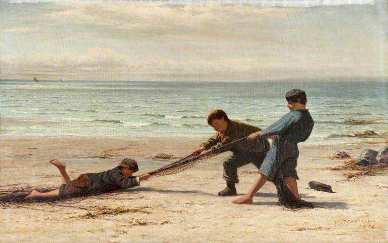Henderson, Joseph, 1832-1908; Haul on the Sands